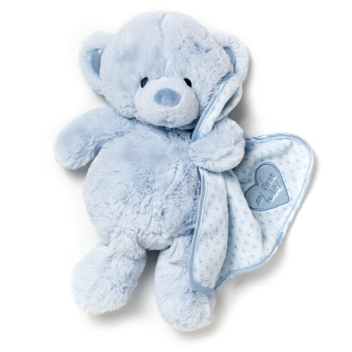 Nat and Jules My First Teddy Bear With Blanket Children's Plush Stuffed Animal Toy by Demdaco