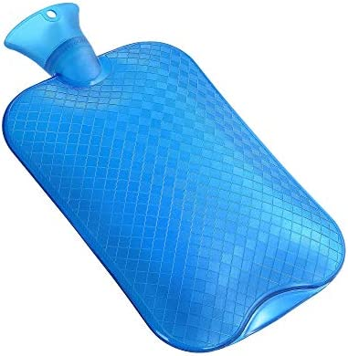 [Gesponsert]KUFL XXL 3L Wärmflasche blau gegen Menstruationsbeschwerden, Rückenschmerzen, Kälte und Magenschmerzen