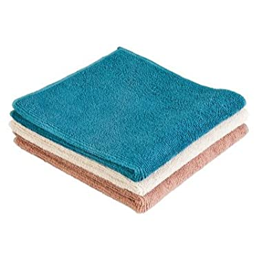 Norwex Antibacterial Microfiber Washcloth Set of 3, Natural