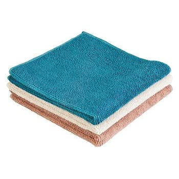 Norwex Antibacterial Microfiber Washcloth Set of 3, Natural
