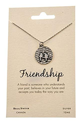 Shag Wear Favourite Animals Inspirations Quote Pendant Necklace (Friendship, Birds on Branch - Gold Branch Pendant