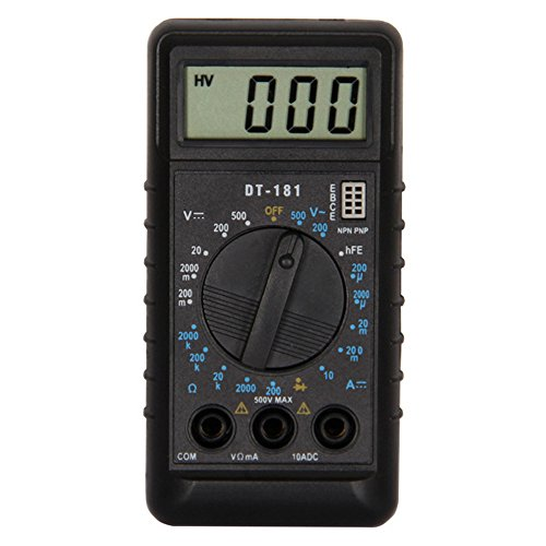 Dressffe Digital Multimeters, Tip Test Hot Universal Digital Multimeter Multi Meter Tester Lead Wire Pen Cable, Backlight LCD Display