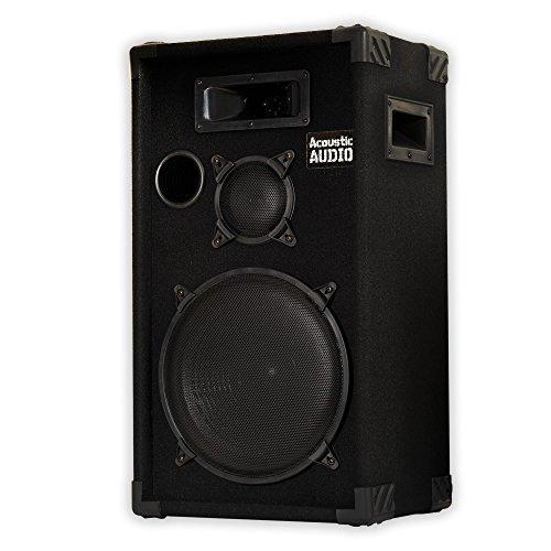 Acoustic Audio CR12 PA Karaoke DJ 12'' Speaker 500W 3 Way by Acoustic Audio by Goldwood