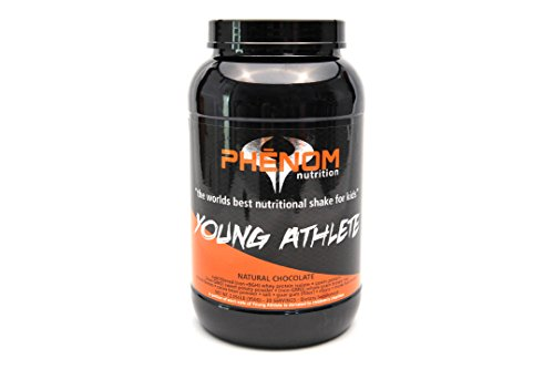 Phenom Nutrition Young Athlete - All Natural Gluten Free Non GMO Protein Shake for Teens and Kids - Chocolate Flavor - 2 Pound 30 Servings