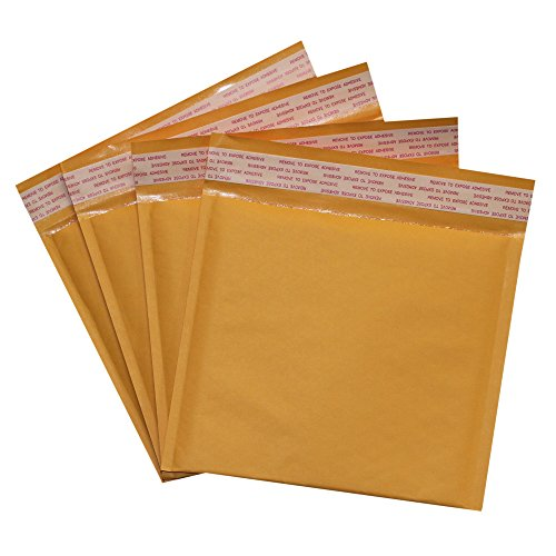 Cardboard Dvd Case Mailer - Pack of 25#CD 7.25x8 Kraft Bubble Mailers Self Seal Padded Shipping Envelopes 7.25