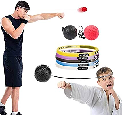 Bulary Boxing Reflex Ball Pelota de boxeo con diadema Head-mounted ...