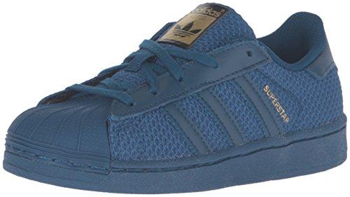 adidas Originals Boys' Superstar EL C Skate Shoe, Tech Steel Tech Steel Tech Steel Fabric, 12 M US Little Kid
