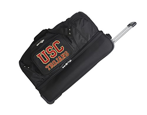 NCAA USC Trojans Rolling Drop-Bottom Duffel by Denco
