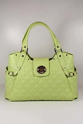 Versace Handbags Large Green Leather DBFC098