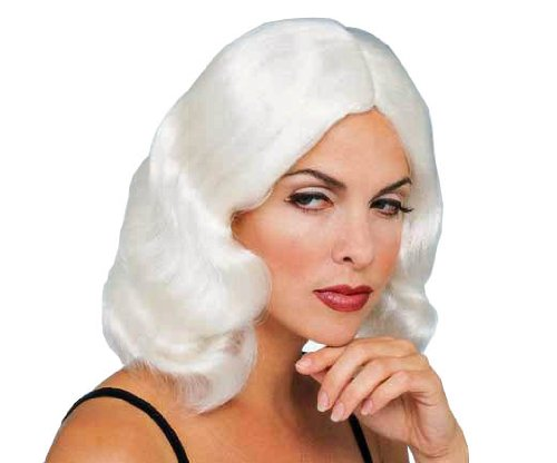 Rubie's Flowing Mid Length Wig, White, One Size for $<!--$11.00-->