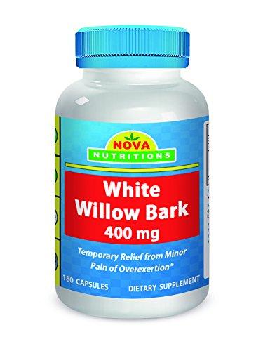 Nova Nutritions White Willow Bark 400 mg 180 Capsules ()