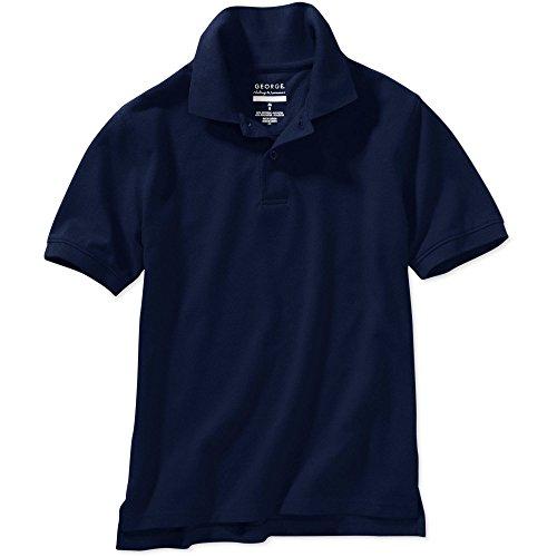 George Boys School Uniform - Short Sleeve Polo Shirt (Large (10/12), Navy Blue) by George (Image #1)