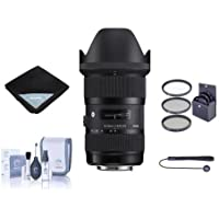 Adorama Sigma 18-35mm F/1.8 DC HSM ART Lens for Canon EOS with VALUABLE BUNDLE, 210101A