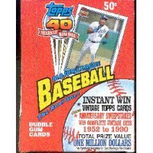 Topps 1991 40 Years of Baseball Official Complete Set 36 ...