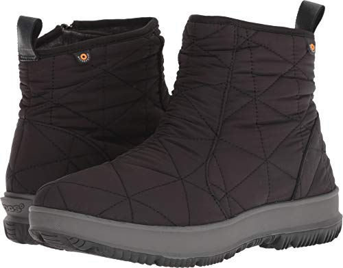 Bogs Women's Snowday Low Waterproof Winter Boot Black 7 M US (Boots Ankle Bogs)
