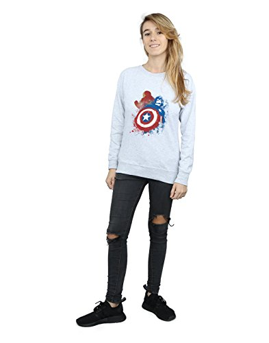 Vs War Gris Iron America Entrenamiento Man Mujer Captain Camisa Cuero Civil De Marvel Painted qSaHwYa
