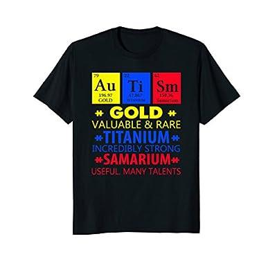 Funny Gold Titanium Samarium Autism Awareness Tshirt