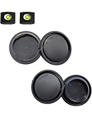Front Body Cap and Rear Lens Cap Cover for Sony Alpha E Mount A6600 A6500 A6400 A6300 A6100 A6000 A5100 A5000/A7R IV/A7R II/A7R III/A7R/A7 III/A7 II/A7 NEX-6 NEX-7 NEX-5 More Sony Camera and Lens