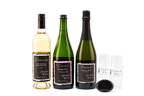 Naked Winery Bubbly Sparkling Wine Gift Set, 3 x 750 mL