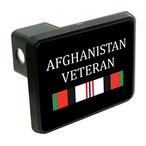 Slap-Art Afghanistan Veteran Military 2 Tow Trailer Hitch Cover Plug
