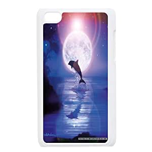Dolphins Art Pattern Hard Shell Cell Phone Case for Ipod Touch Case 4 HSL387265