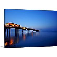 "Canvas on Demand Premium Thick-Wrap Canvas Wall Art Print entitled Sunrise at dania beach park, South Florida 48""x32"""