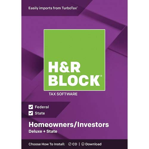 H&R Block Deluxe + State 2018 Homeowners/Investors Tax Software, Traditional ()