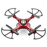Gbell Kids Adults HD Camera Drone - JJRC H8DH 6-Axis Gyro 5.8G FPV RC Quadcopter Drone with Monitor - Boys Girls Adults Birthday Christmas New Year Gifts,Red (Red)