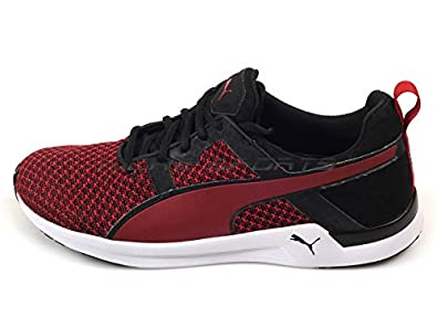 Puma Men's Pulse XT Knit Black and Scooter Mesh Running Shoes - 10UK/India (