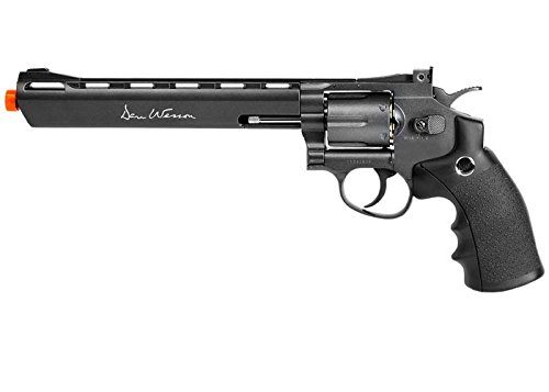 357 Magnum Airsoft - ASG Dan Wesson CO2 Powered Airsoft Revolver, Black, 8