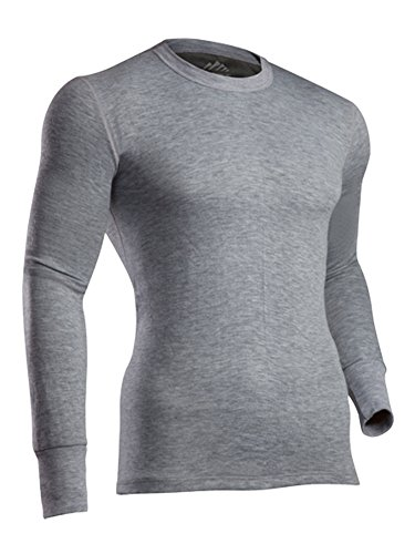 - ColdPruf Men's Platinum II Performance Base Layer Long Sleeve Tall Crew Neck Top, Heather Grey, Large Tall