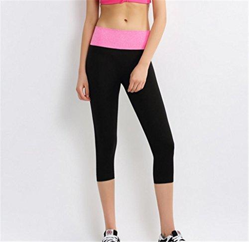 Gym Femme yoga pantalon pink sport étirement serré pantalon qqwFAaY