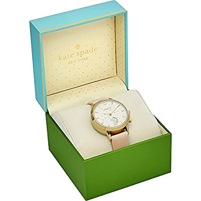 kate spade new york Leather Strap Cheers Metro Grand Hybrid Smart Watch by Kate Spade New York