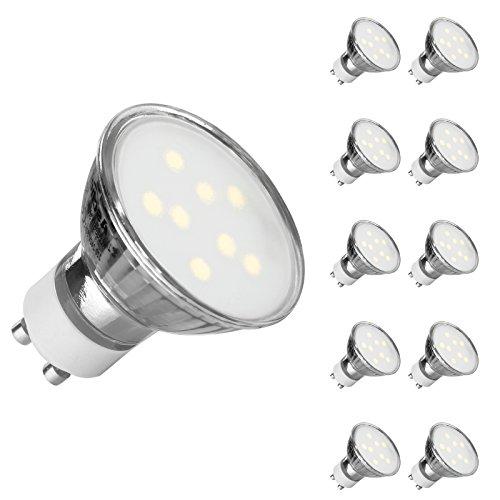 GU10 LED Daylight White, Ascher 10 Pack GU10 4W LED Light Bulbs [ Daylight...