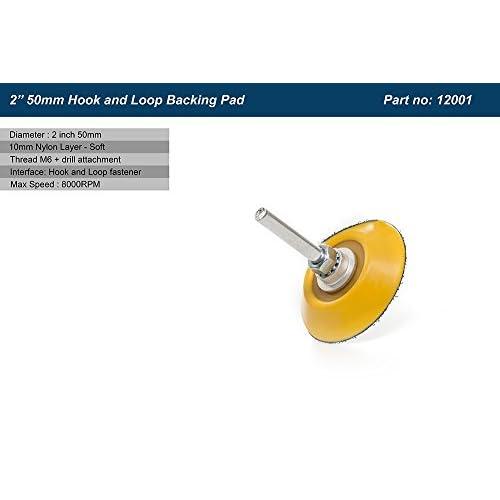 5,1cm (50mm) dos velcro pad (avec foret) Fixation Velcro ponçage/polissage Pad avec crochet et boucle–10mm en nylon Couche