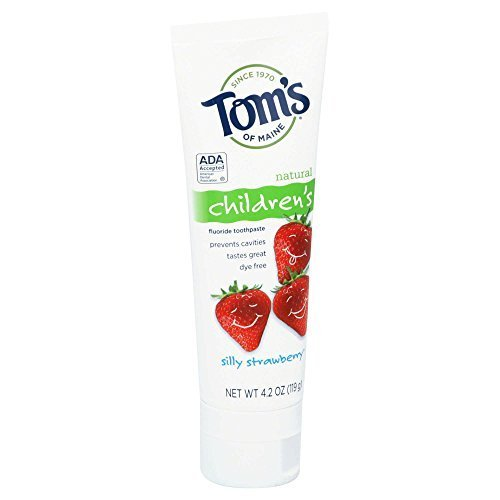 Tom's of Maine Anticavity Fluoride Children's Toothpaste-Silly Strawberry-4.2 oz
