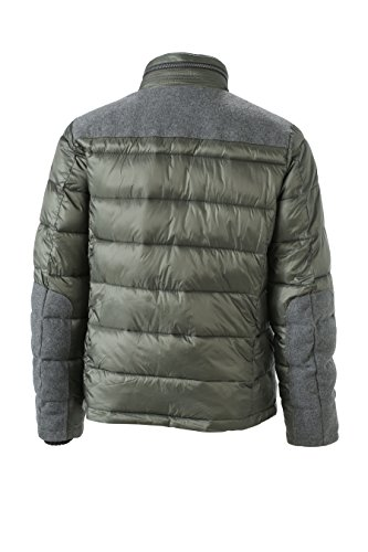 Dettagli green Men's Giacca Con Trendy Jacket Pine Winter Invernale Imbottita Pqwt4