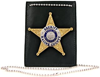 product image for Boston Leather Neck Chain Id and Badge Holder 5845-1