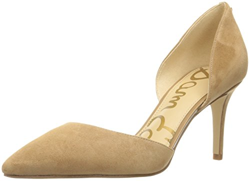 Golden Pump Women's Telsa Sam D'Orsay Caramel Edelman Suede gFqwX