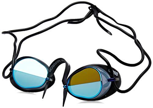 (arena Swedix Mirror Race Swim Goggles, Smoke / Blue / Black)