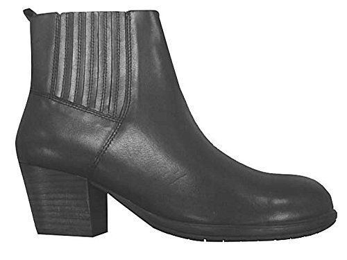 Heel Faux Size Leather Block Foster Chelsea Ankle Black Gluv Fashion Pull Boots Mid Footwear On 8 Ladies 4 qxWt6zR