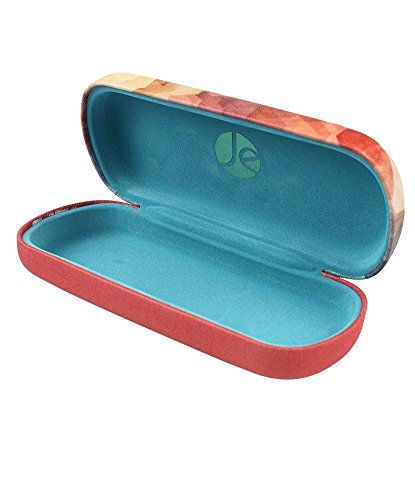 JAVOedge Blue Sunset Color Butterfly Decal Watercolor Pattern Glasses Case