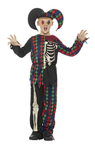 Smiffy's Skeleton Jester Costume, Multicolor, Medium (Skeleton Jester)