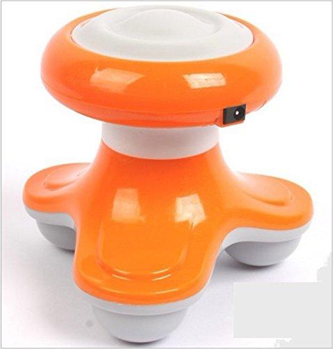 Keyi le Stilvoll und einfach zu reinigen Mini-Hand-USB-Elektro-Massagegerät Ganzkörper-Tiefenmuskel-Massage-Schmerzlinderung - 4 Farben - Orange