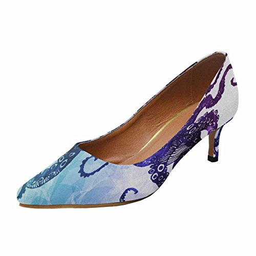 Talon De Chaton Faible Dinterestprint Womens Bout Pointu Chaussures De Pompe De Robe Poulpe Multi 1