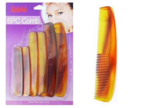 COMB PLASTIC 6PCS/SET TORTISE COLO R , Case of 144