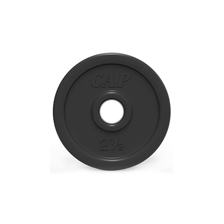 CAP Barbell Rubber Coated Weight Plate, 1 Inch, Single