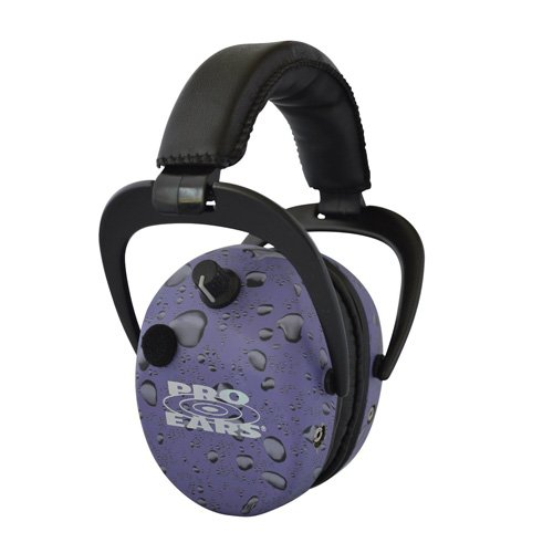 Pro Ears - Stalker Gold - Electronic Hearing Protection and Amplification Earmuffs - NRR 25 - Purple Rain by Pro Ears
