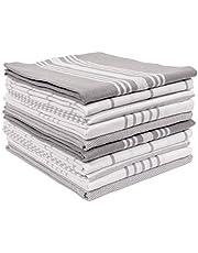 KAF Home Soho Kitchen Dish Towel Set of 10   18 x 28 Inch Tea Towels   Soft and Absorbent Mixed Set of Flat Towels