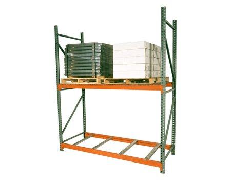 Teardrop Pallet Rack Upright - 96''H x 42''W - 30,600# cap. by SJF Material Handling